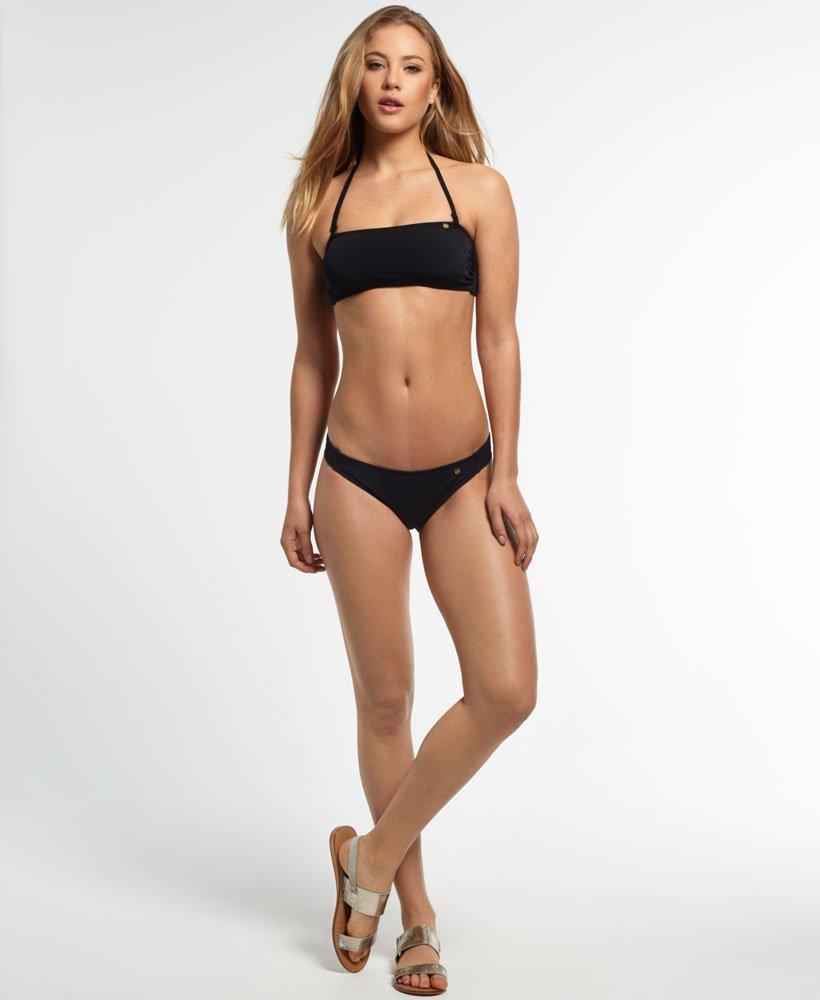 New Womens Superdry Santorini Bandeau Bikini Top Black