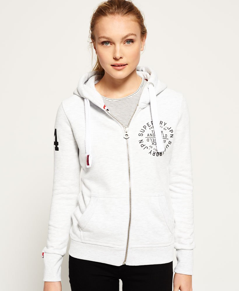 Superdry Sweat à capuche zippé Track & Field Sweats à