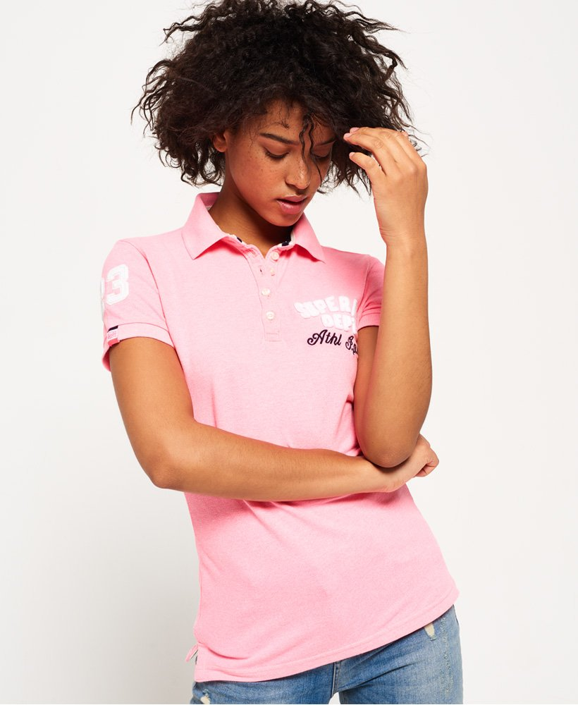various design release date size 40 Womens - Applique Polo Shirt in Fluro Pink | Superdry