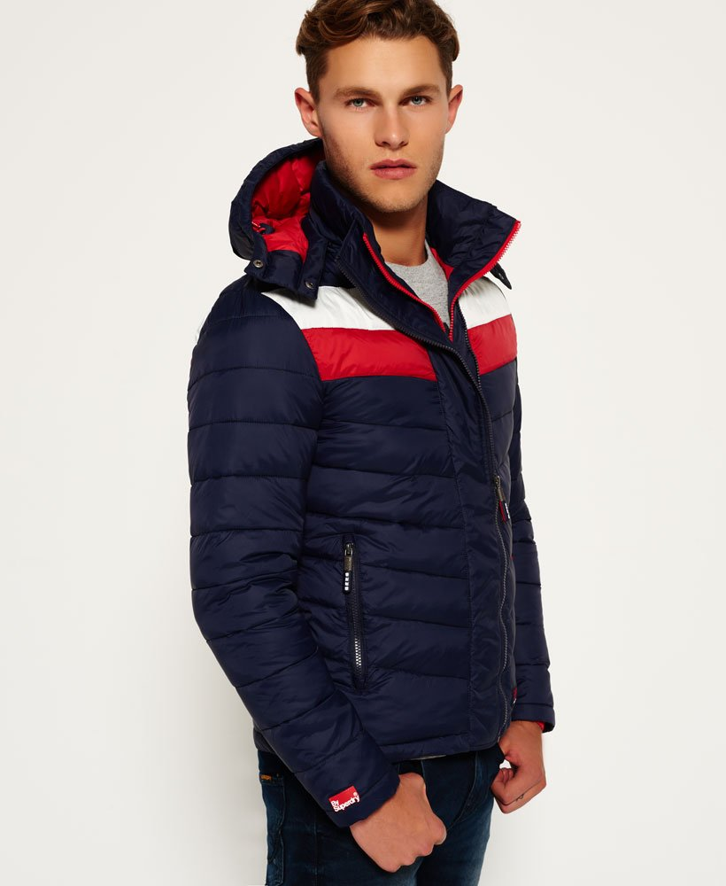 Mens - Chevron Fuji Jacket in Ink | Superdry