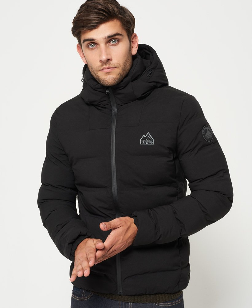 Mens - Echo Quilt Puffer Jacket in Black   Superdry e0c6414386c9