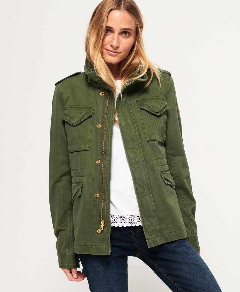 the best attitude ececf 08d8d Superdry Klassische Rookie Military-Jacke - Damen Jacken ...