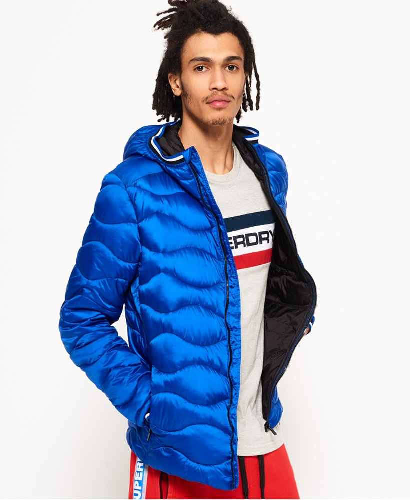 the best attitude 699ce b71f1 Superdry Wave Quilt Hooded Jacket for Mens