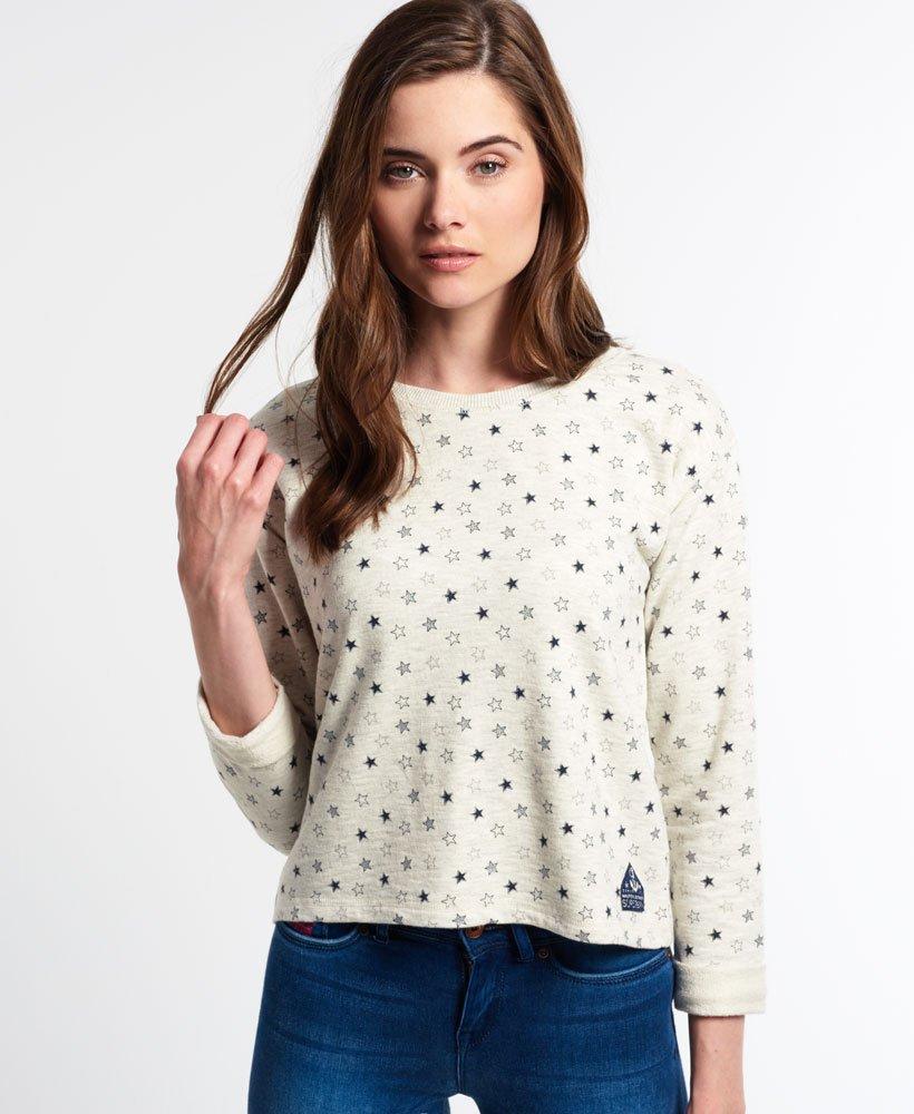 Glitter Trui Dames.Superdry Glitter Sweater Met Ronde Hals Topjes Voor Dames