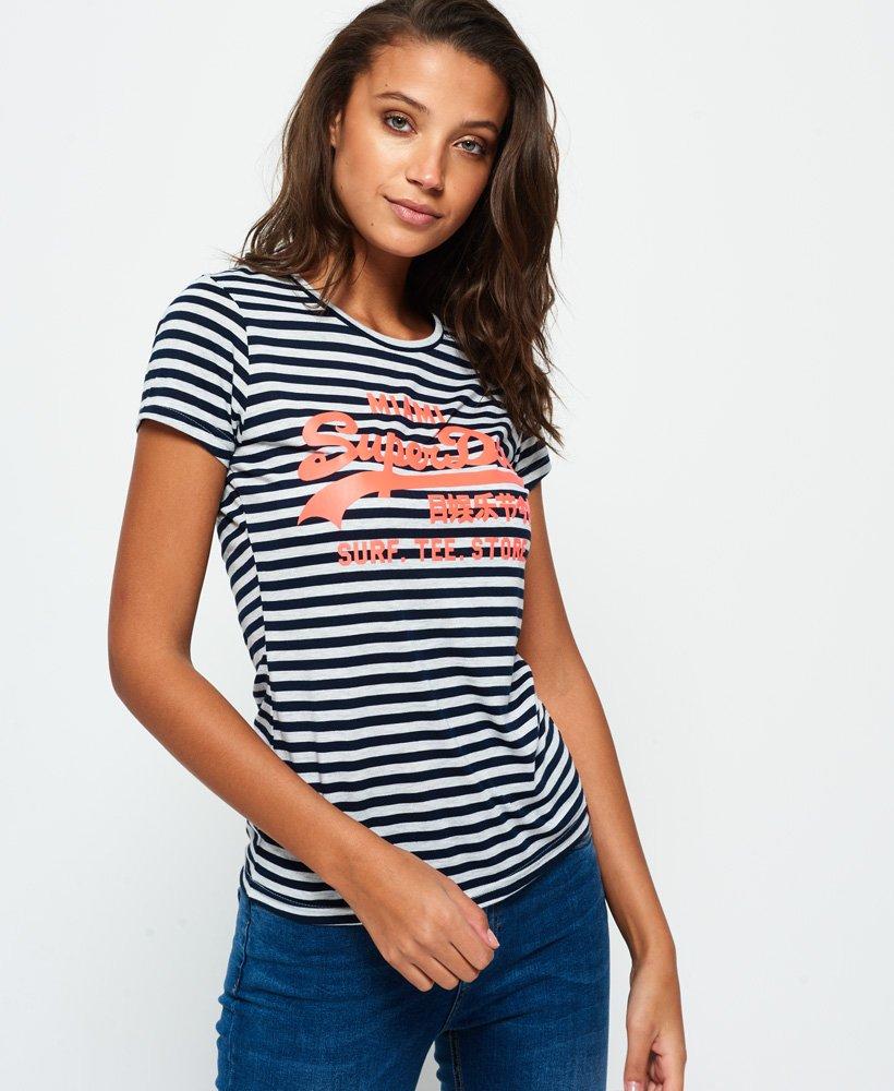 Superdry Vintage Logo Stripe T-Shirt