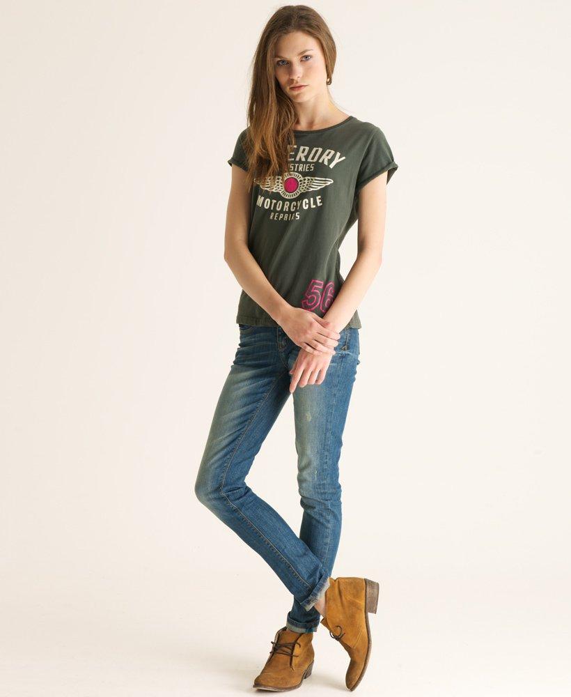 Superdry Workshop MC T skjorte Dame T skjorter