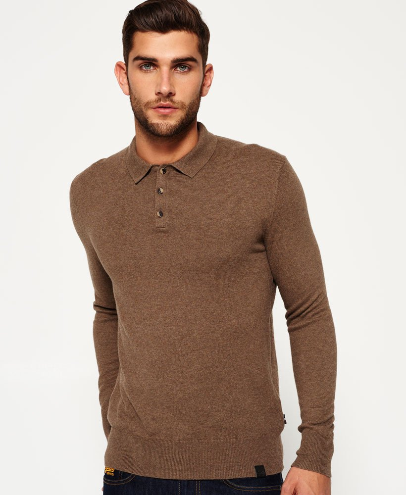 Superdry Orange Label Knit Polo Jumper