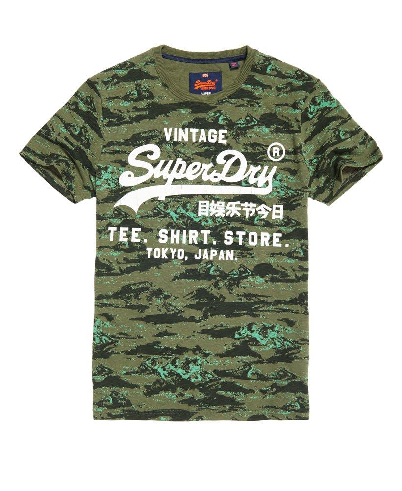 Superdry Vintage Logo T skjorte med trykk over det hele