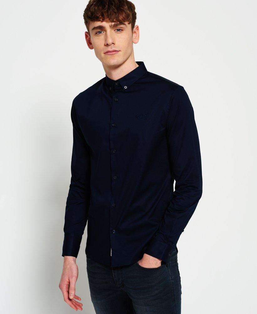 Overhemd Getailleerd Heren.Superdry Getailleerd Slim Fit Overhemd Overhemden Voor Heren