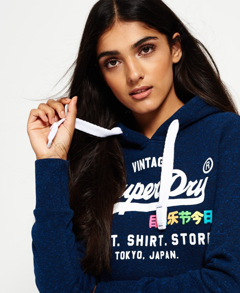 Superdry Shirt Shop Rainbow Hoodie Damen Hoodies