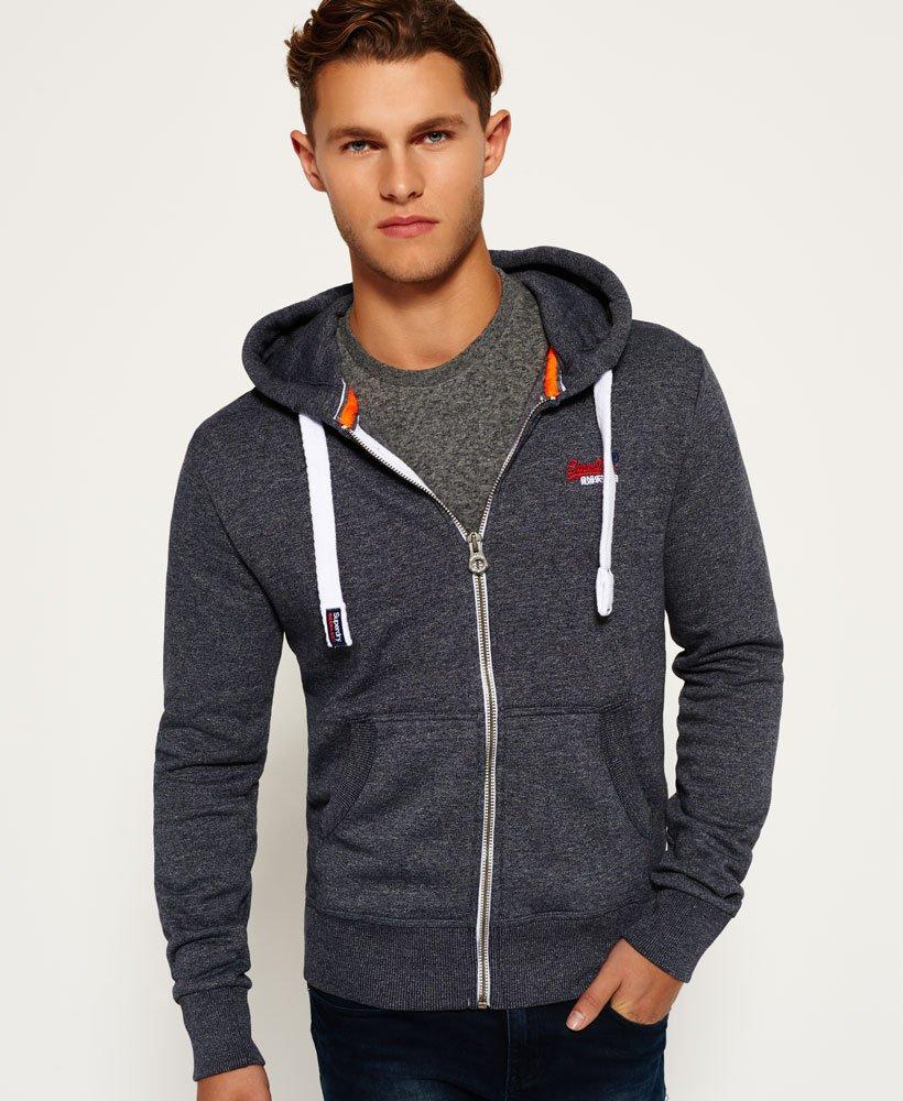 Mens - Orange Label Zip Hoodie in Navy Grit  5a98876baf5d