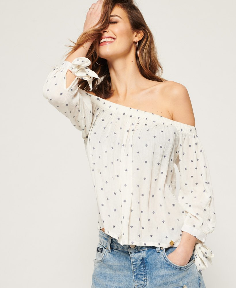 Superdry Brook Off The Shoulder Top thumbnail 1