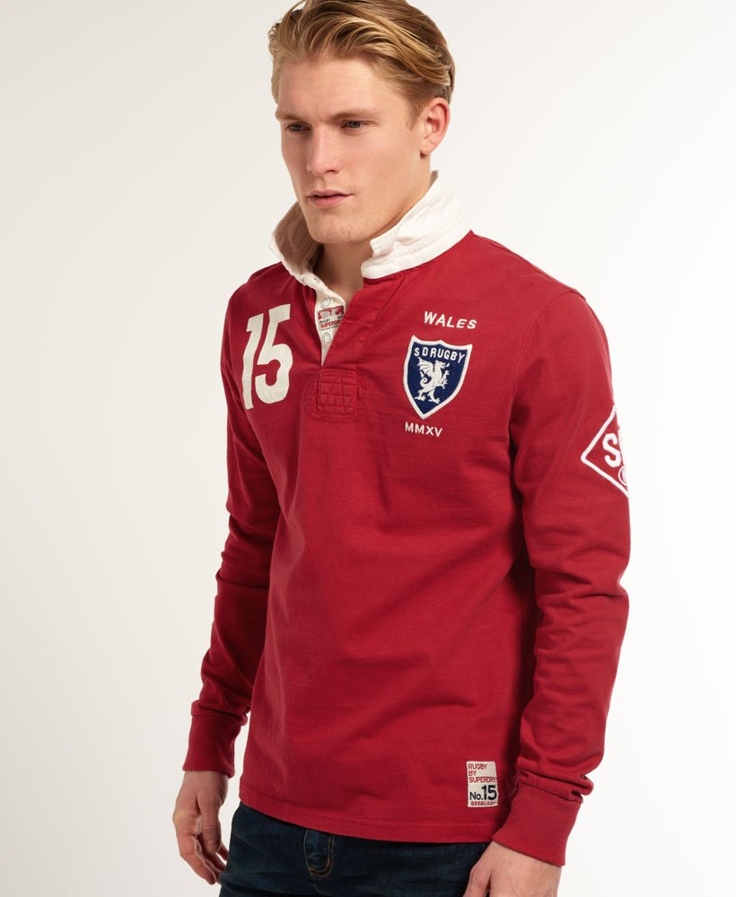 Superdry Valiant Rugby Shirt Men S Tops