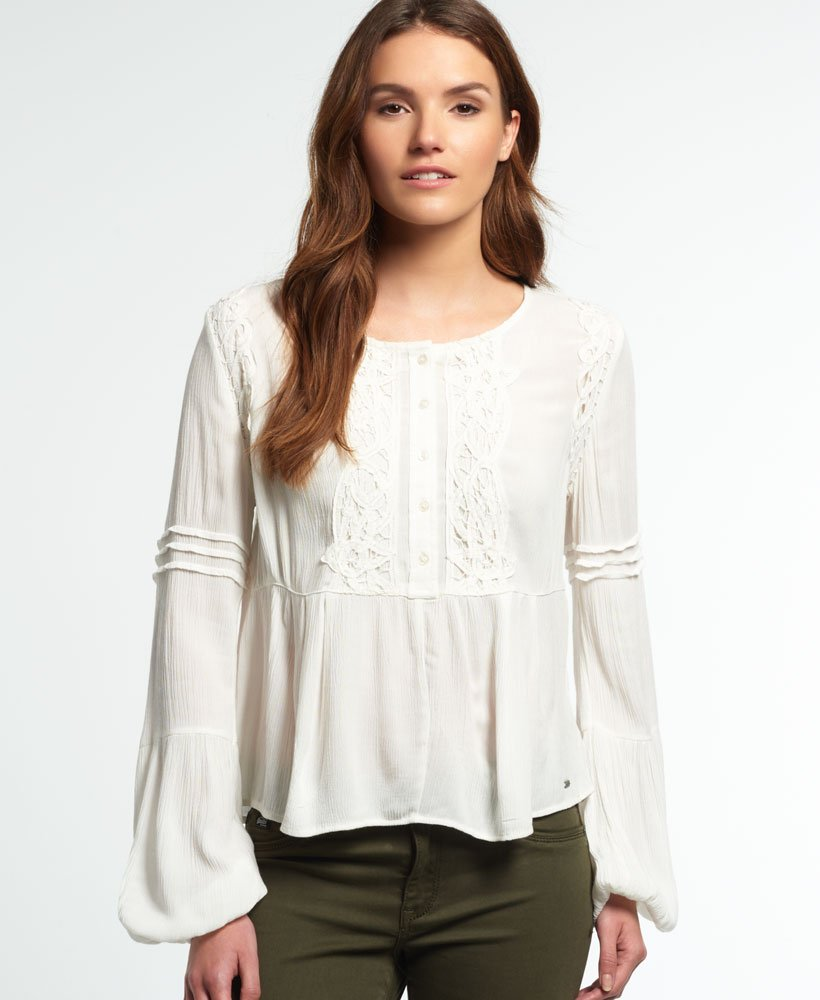 Superdry Roswell Lacy Blouse thumbnail 1