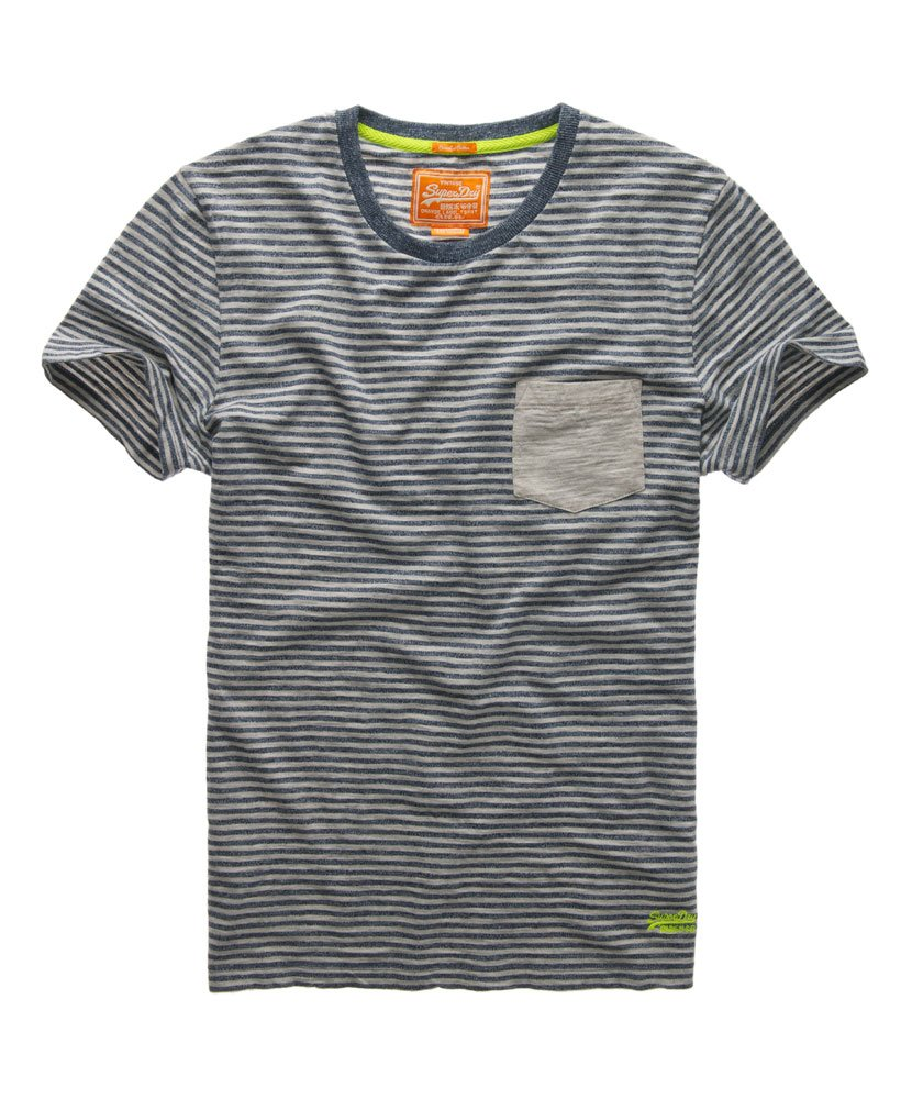 Superdry Grindle stribet T shirt Herrer T shirts
