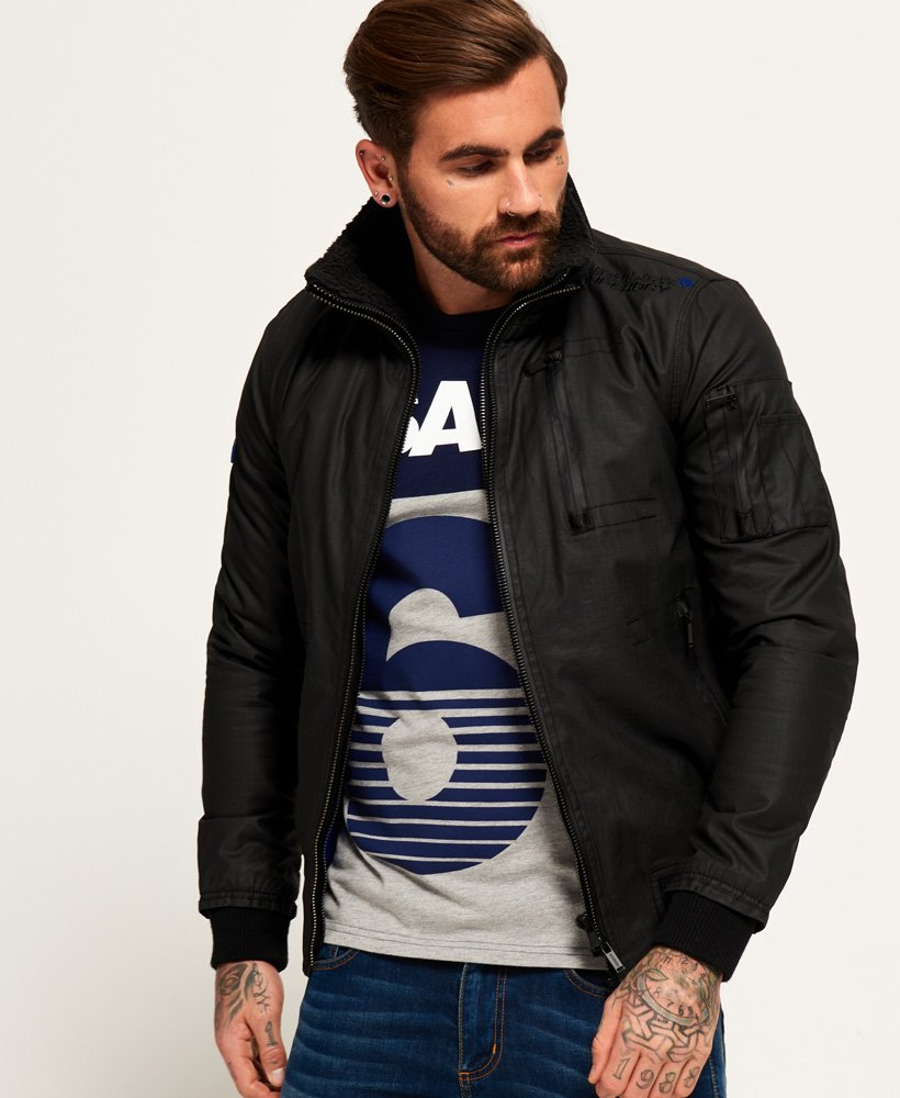 latest releases great fit sports shoes Mens - New Moody Ripstop Bomber Jacket in Black | Superdry