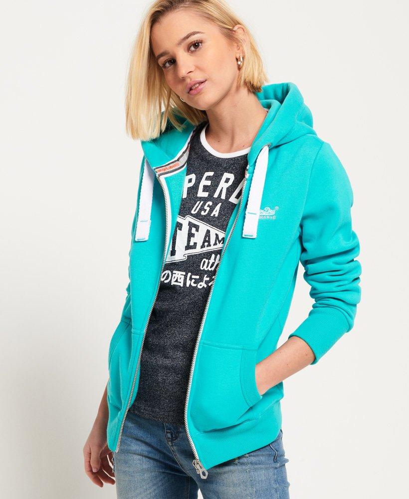 online store 90c46 018ce Superdry Orange Label Primary Zip Kapuzenjacke - Damen Hoodies
