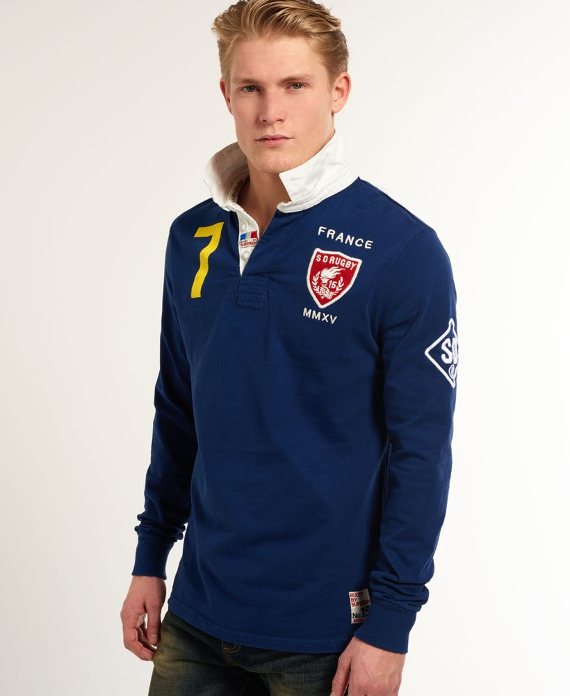 c79a85d749f Superdry Valiant Rugby Shirt - Men's Tops