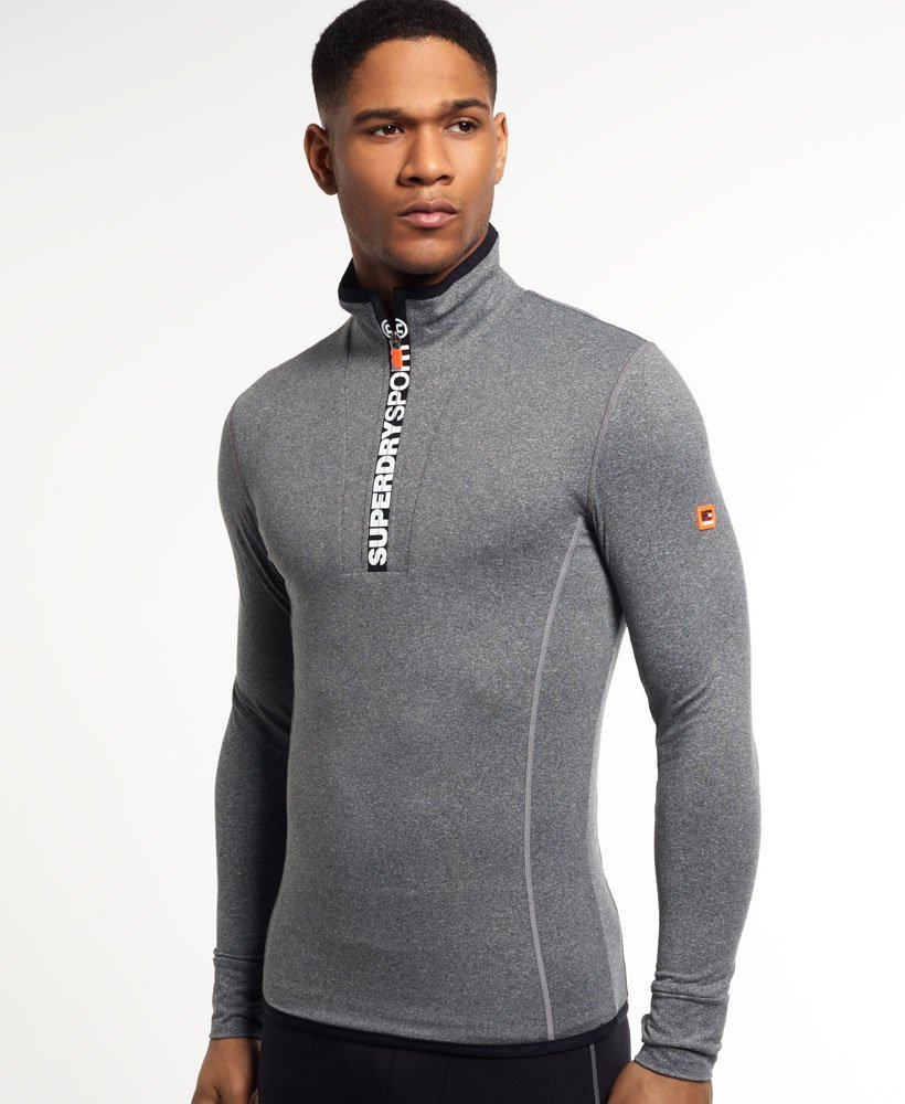 Superdry Gym Sport Runner Zip Henley Top
