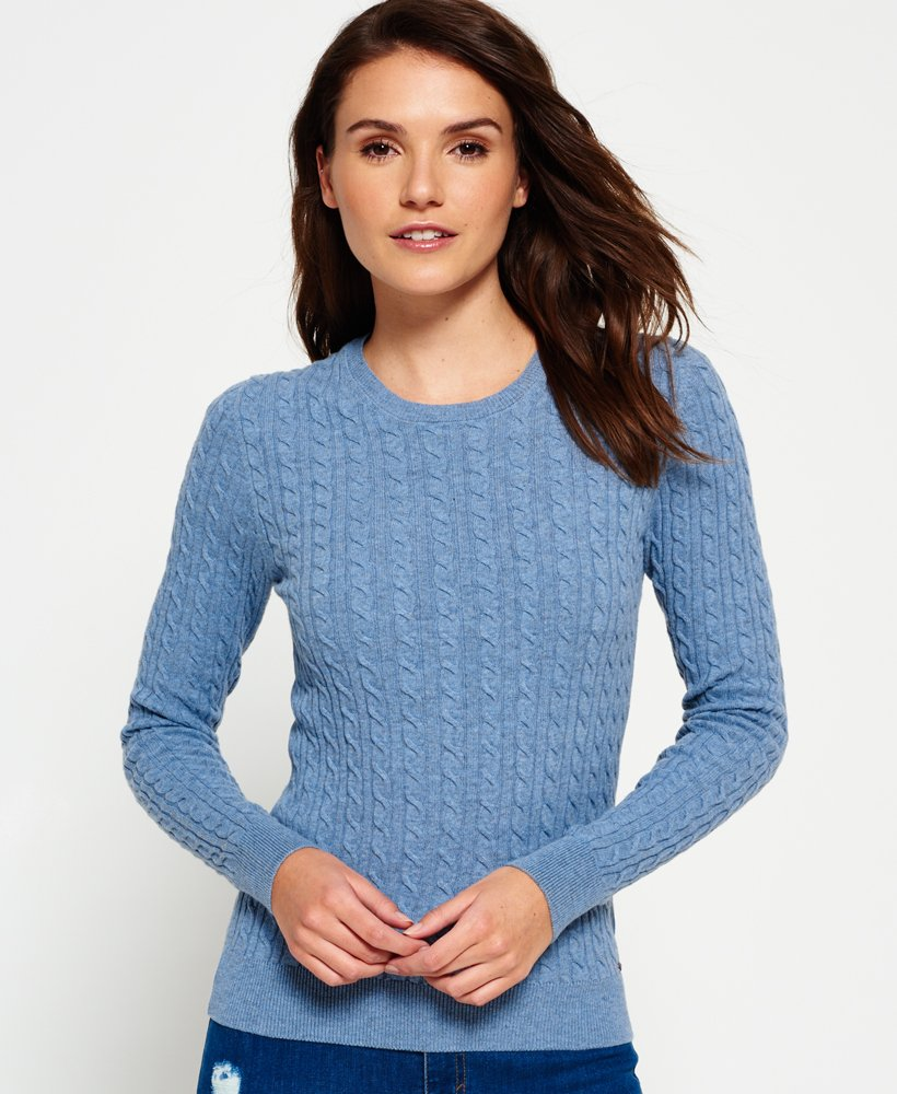 Superdry Summer Luxe Mini Cable Knit Jumper thumbnail 1