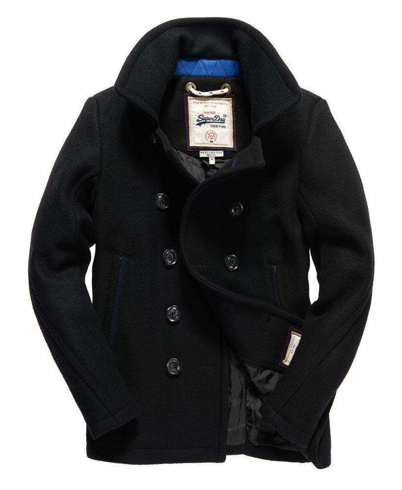 Mens - Premium Pea Coat in Black  ee05cdca0