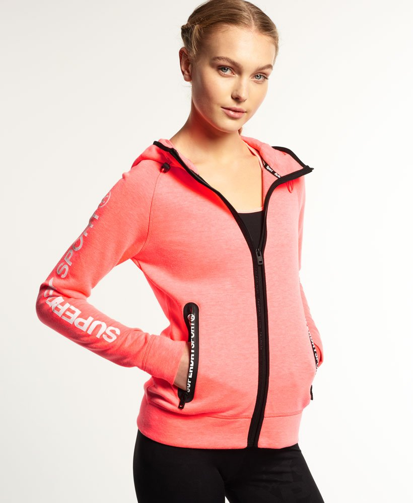 new styles 5ae85 26a3d Superdry Gym Tech Zip Hoodie - Womens Superdry Sport