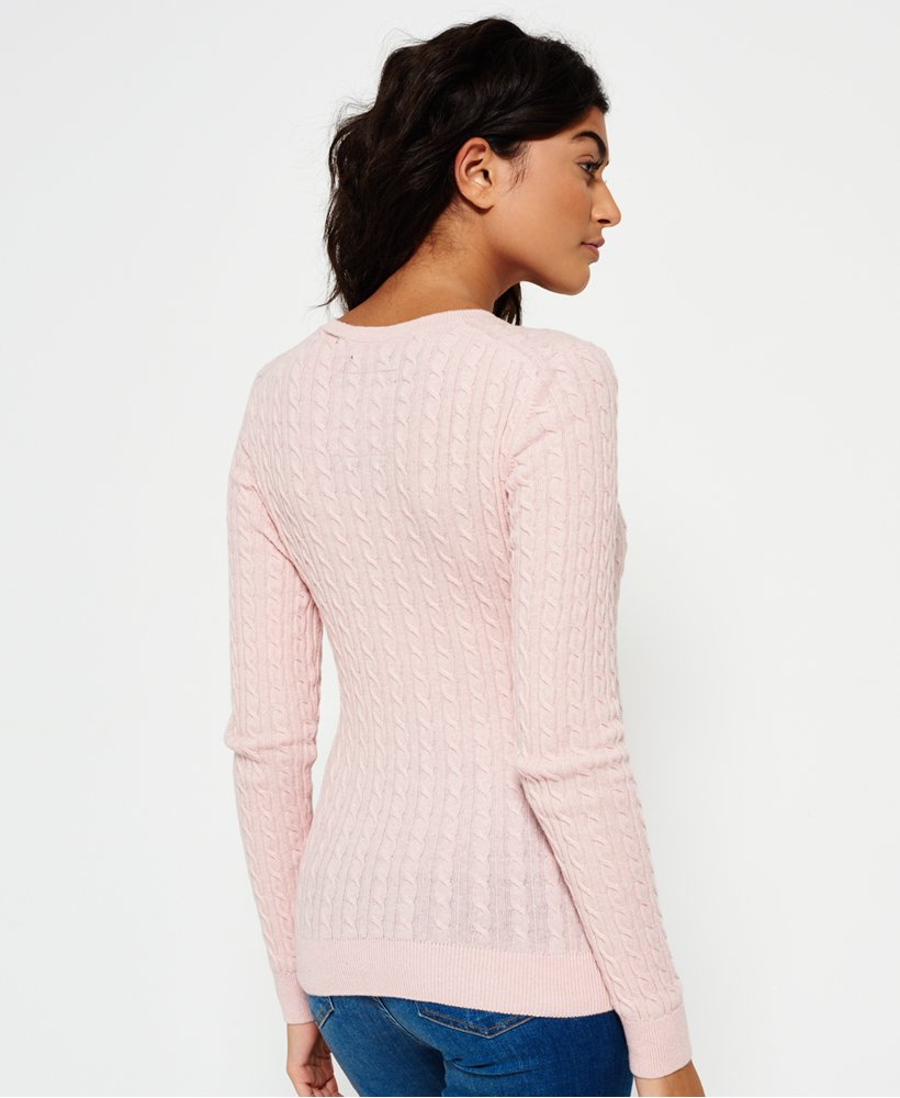 Superdry Summer Luxe Mini Cable Knit Pullover Damen Strickmode