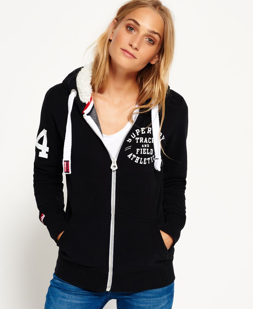 Superdry Tracker & Field Borg Zip Hoodie Women's Hoodies