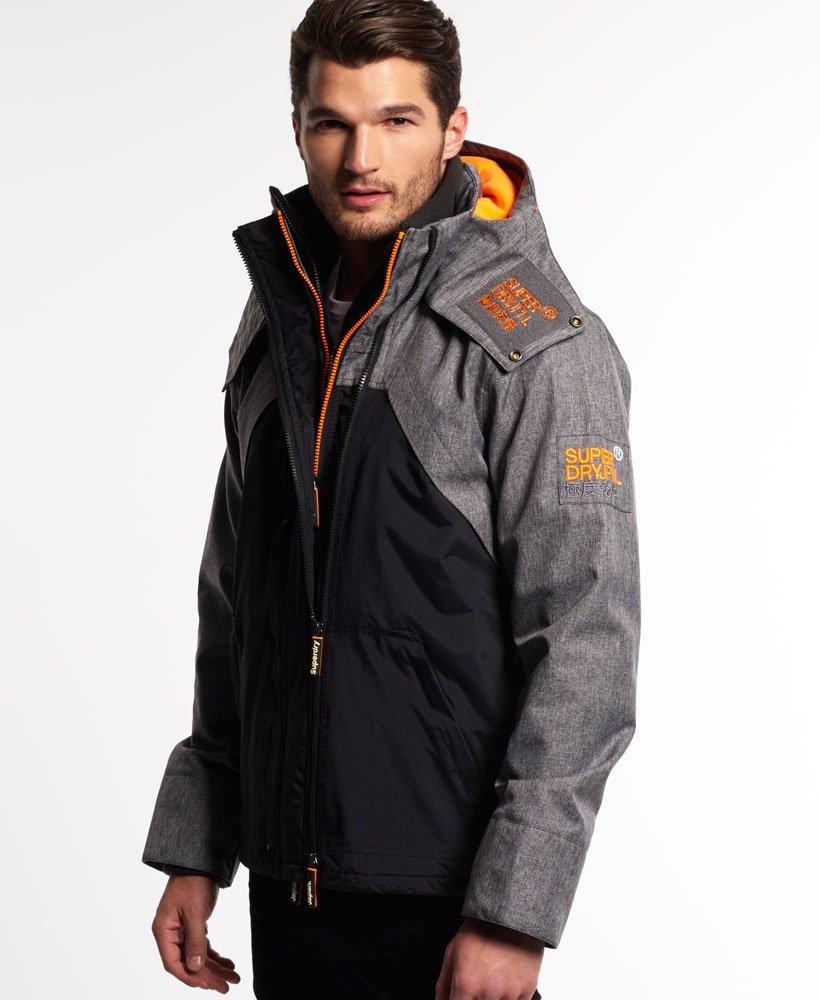 Hooded Wind Hybrid Jacket|Grey Superdry Mens Jackets