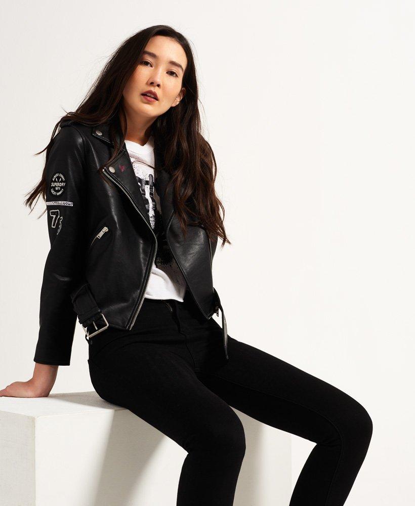 e8843235 Superdry Riot Biker Jacket - Women's Jackets & Coats