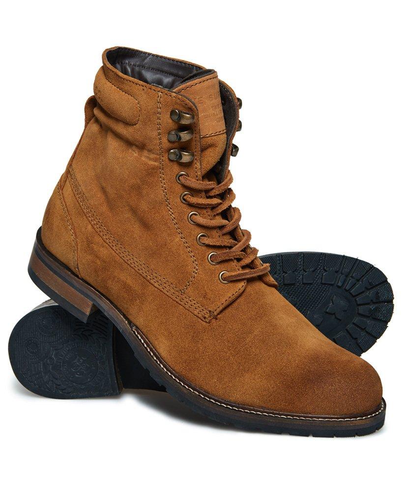 396833aa8c6 Mens - Edmond Work Boots in Dark Tan Suede   Superdry