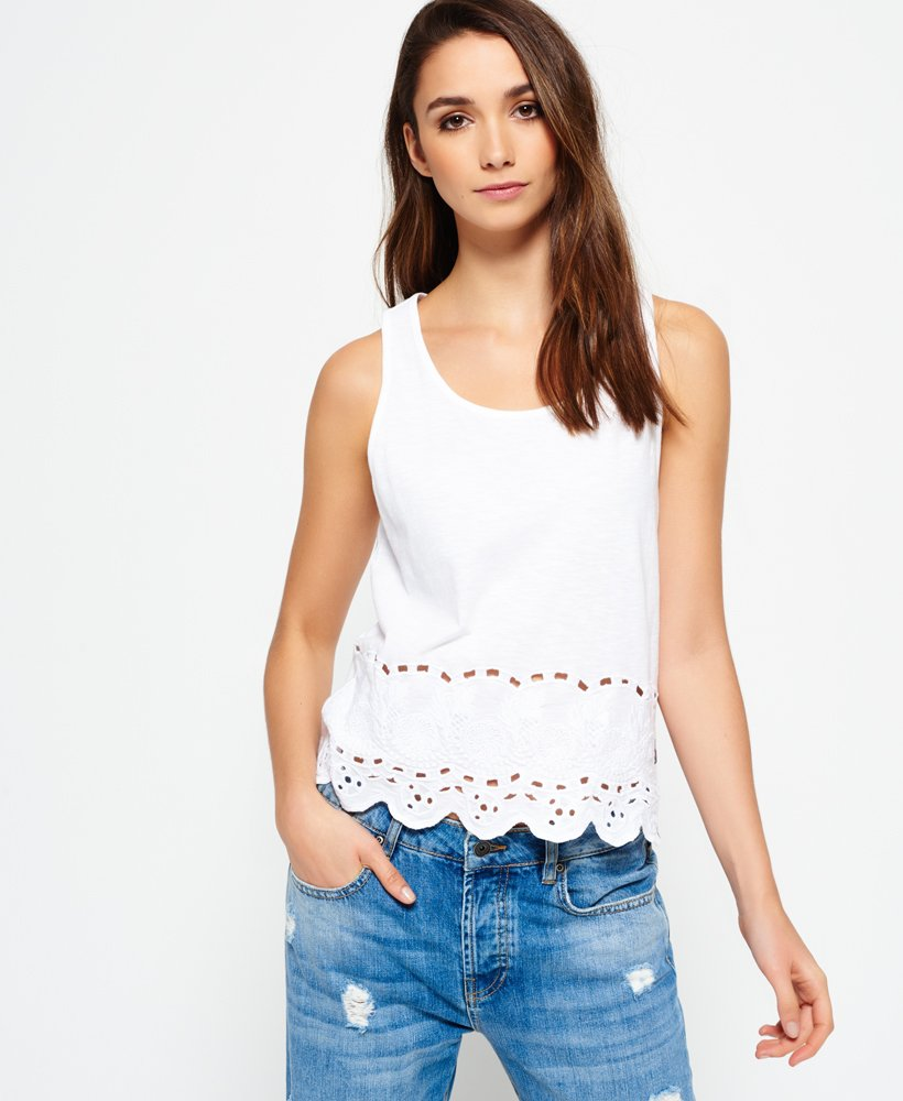Superdry Beach Broderie Shell Top  0