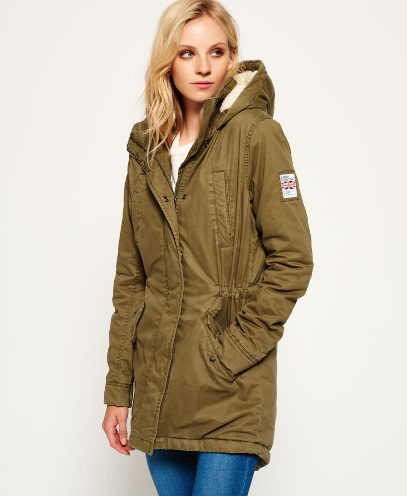 sports shoes 363aa 297e5 Superdry Winter Rookie Military Parka Jacket - Women's ...