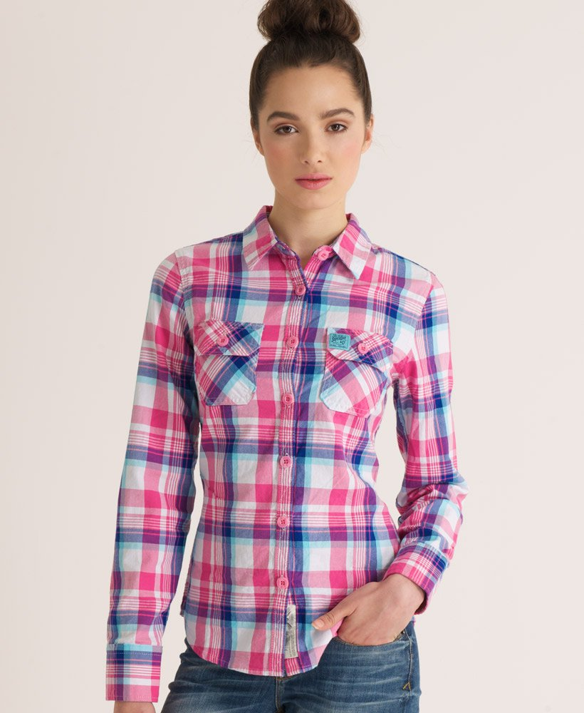 3e1d8f9d61 Superdry Camisa tipo leñador Patch - Camisas para Mujer