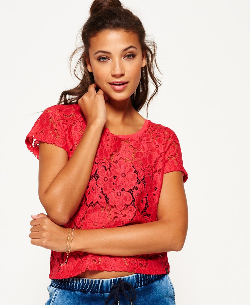 Superdry Lace Shell Top thumbnail 1