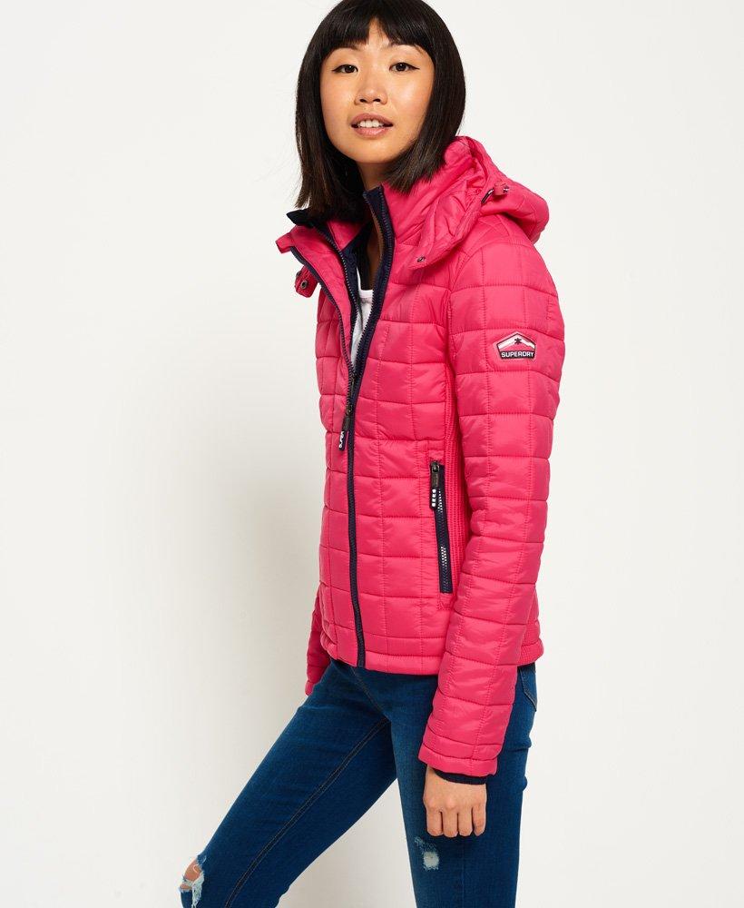 Billig Superdry Frauen Hooded Box Quilt Fuji Jacke online