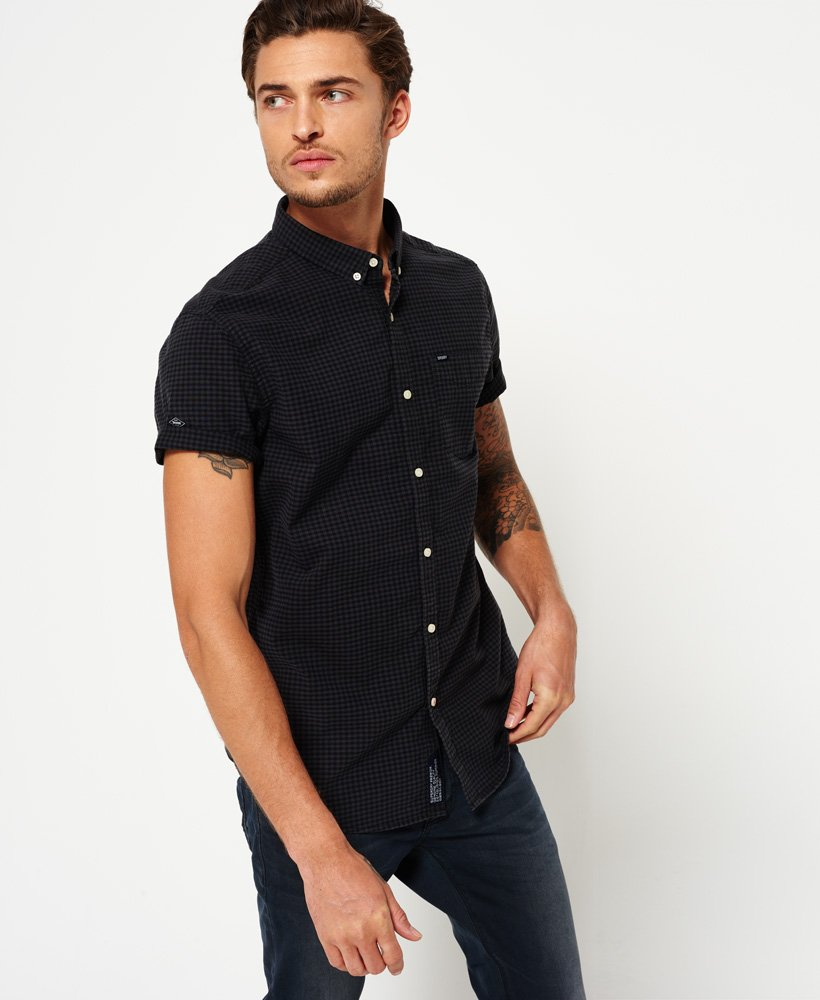Mens - Ultimate City Oxford Shirt in Carbon Gingham | Superdry