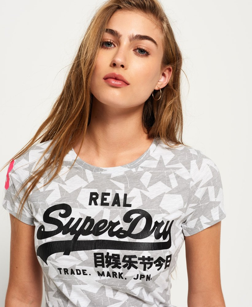 Superdry Vintage Logo Etoile All Over Print T shirt