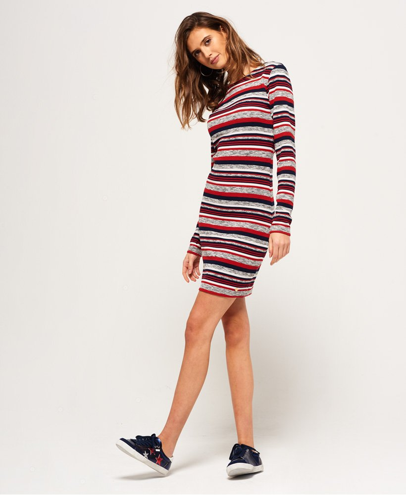 Superdry Stripe Pacific bodycon kjole