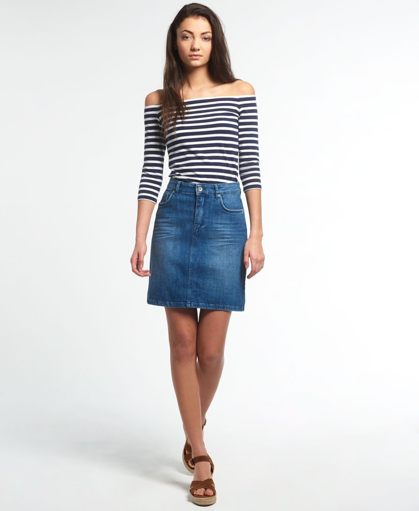 Superdry A-Line Denim Skirt