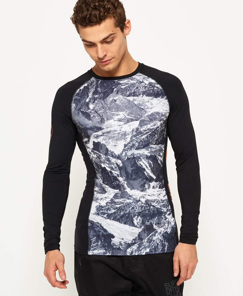 Superdry Maglia girocollo Carbon Baselayer  thumbnail 1