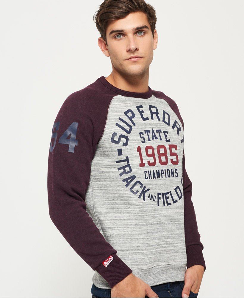 pull homme superdry gris trackster