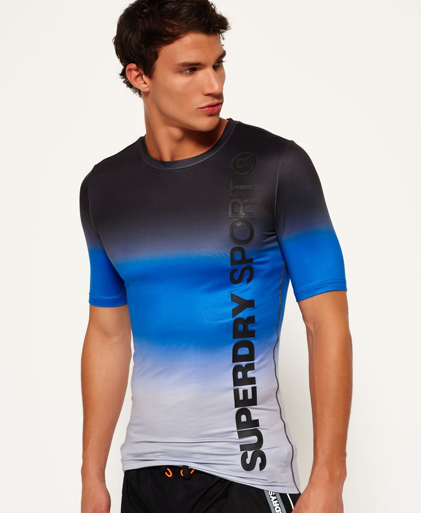 the best attitude 93e01 c9b89 Mens - Sports Athletic T-shirt in Cobalt Dip | Superdry