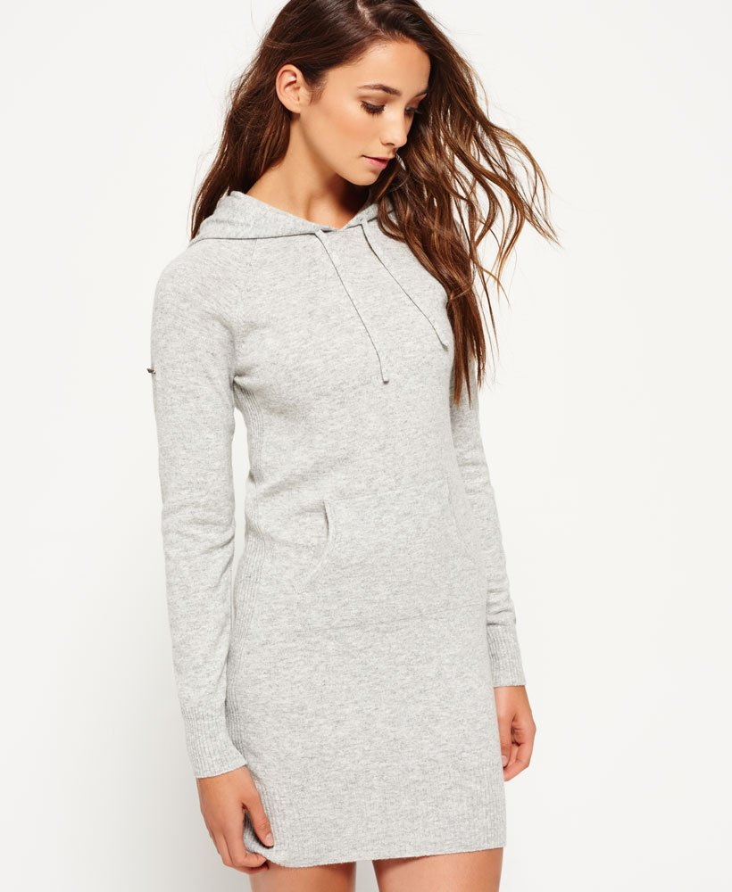 Superdry Luxe Knitted Hoodie Dress thumbnail 1