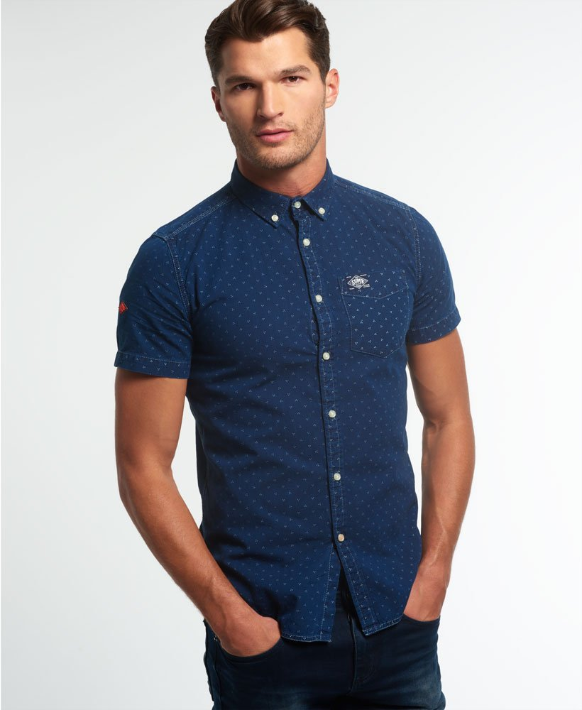 Superdry London Loom kortermet skjorte Herre Sale Shirts