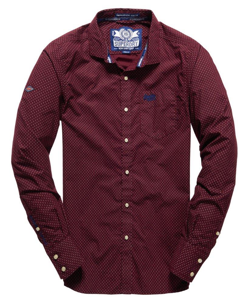 Superdry Long Sleeved Cut Collar Shirt Mens Shirts