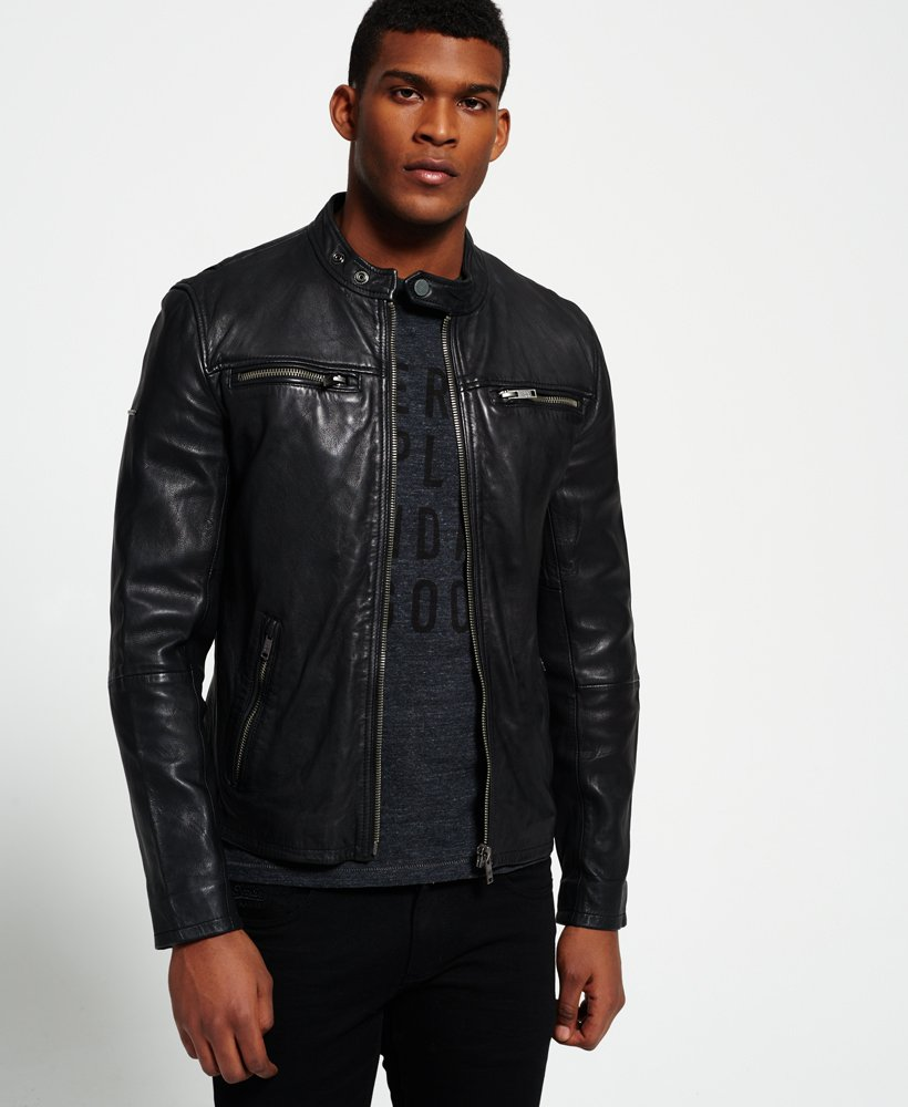 Classic Real Hero Biker Leather Jacket