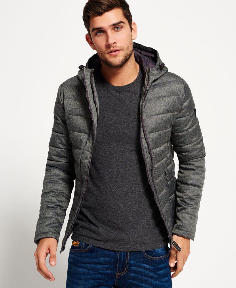 Jackets Tweed Superdry Fuji Double Zip Men's Hooded Jacket vmN8nO0w