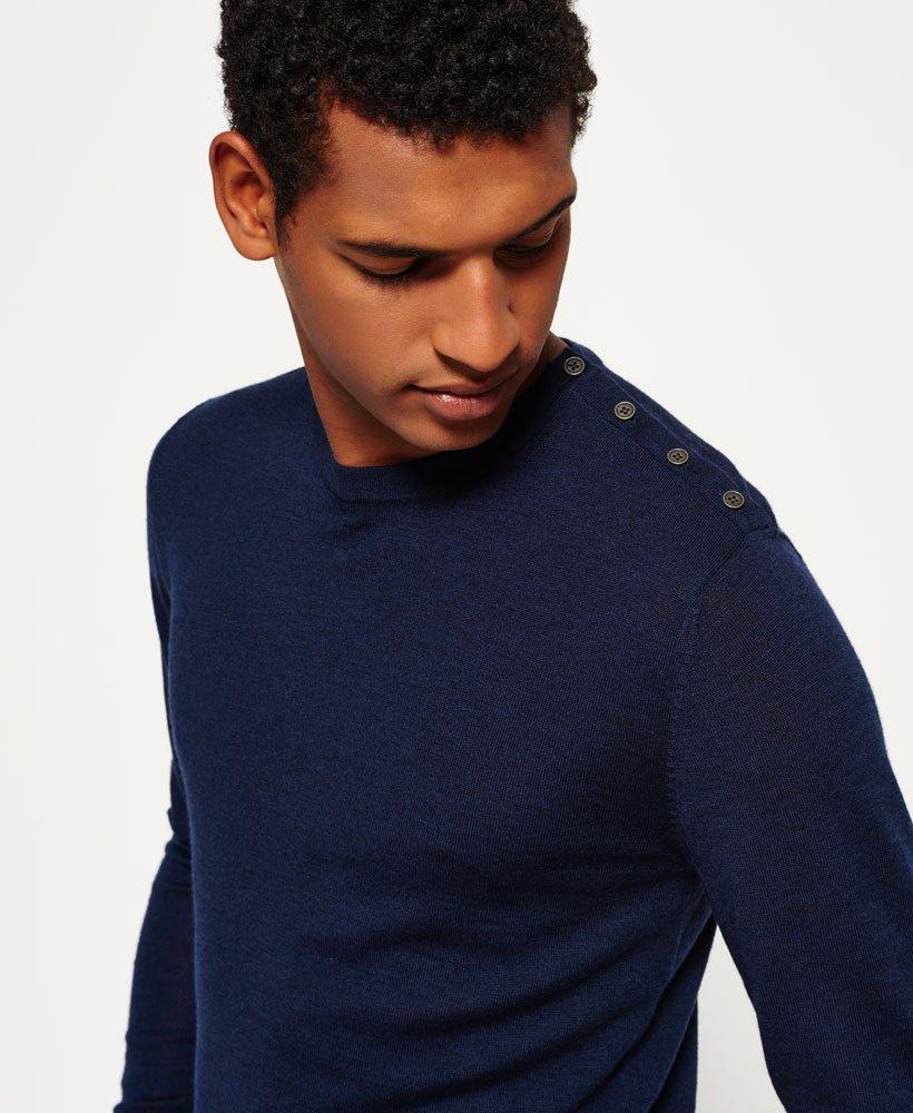 Maglione girocollo in lana merino con bottoni Call Sheet da