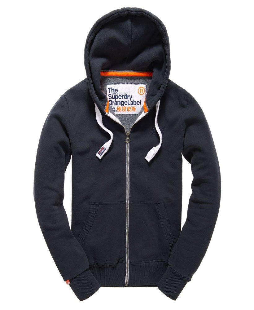 Mens - Orange Label Zip Hoodie in Eclipse Navy   Superdry e1f727154ed9